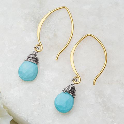 Taos Turquoise Teardrop Earrings