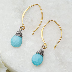 Taos Turquoise Teardrop Earrings