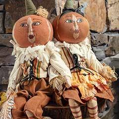 Tessa & Tobias Pumpkin Heads