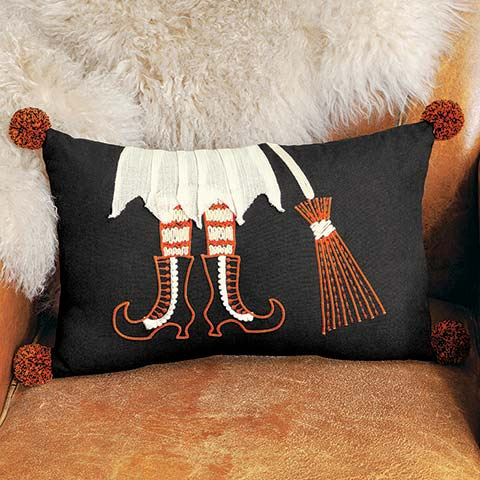 Witch's Legs Pillow