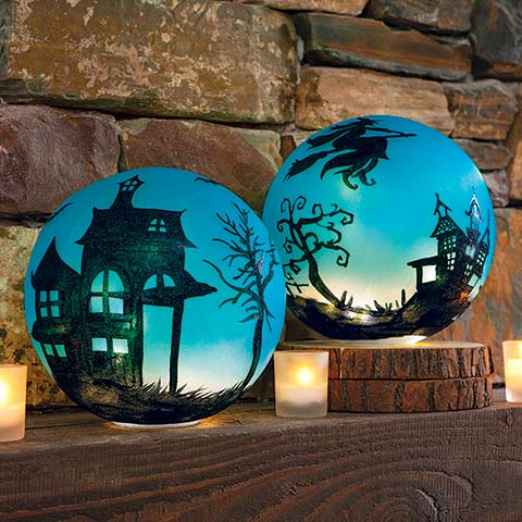 Bewitching Blue Globes