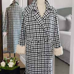 Mara Houndstooth Coat