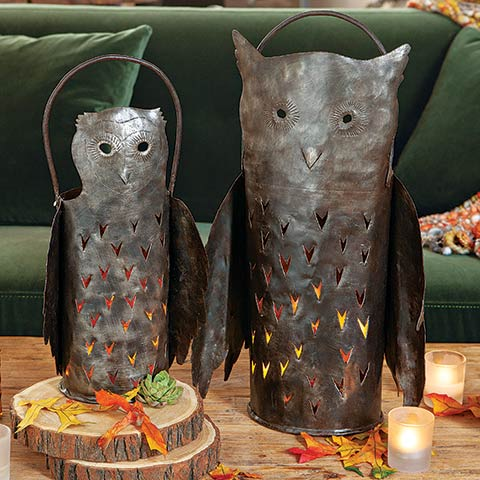 Wise Owl Lantern Set