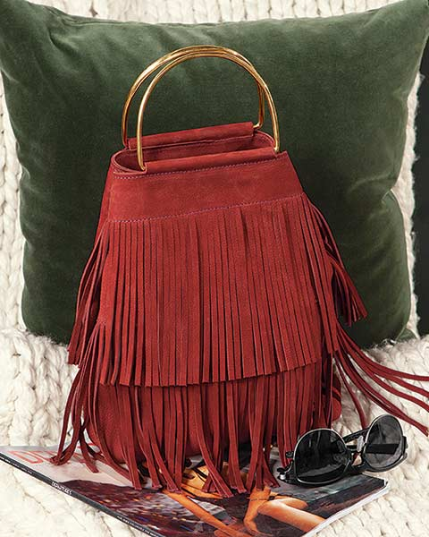 Ashbury Fringed Suede Handbag