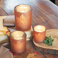 Autumn Leaves Votives