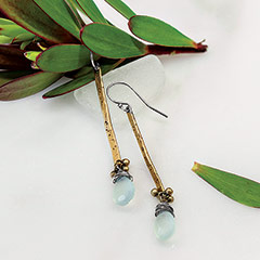 Chalcedony Pendant Earrings