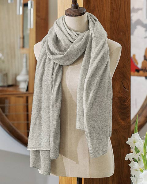Classic Gray Cashmere Scarf