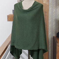 Forest Green Cashmere Poncho