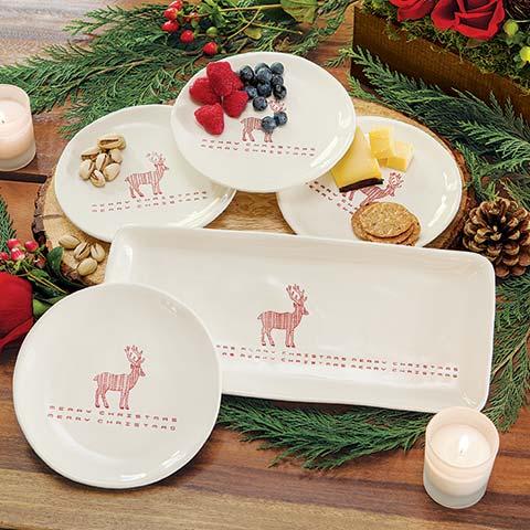 Merry Deer Platter & Plates