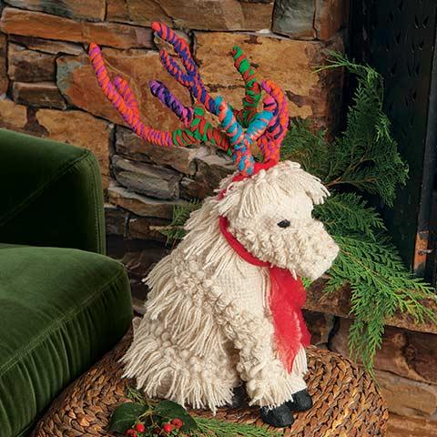 Boho Fringed Reindeer Pup
