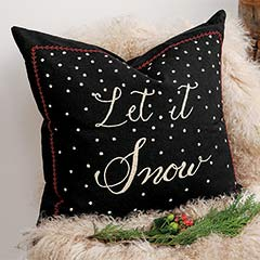 """Let It Snow"" Pillow"
