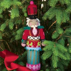 Felted Nutcracker Tree Topper