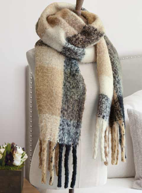 Demarr Fringed Scarf