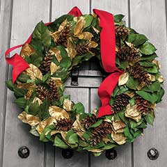 Gilded Pine Fantasy Wreath