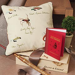 Fly Fishing Pillow & Book