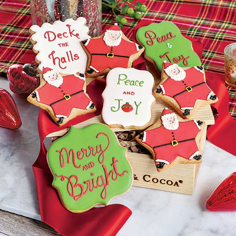 Holiday Greetings Cookies