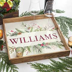 Personalized Holiday Tray