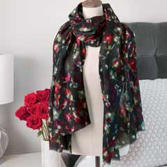 Watercolor Roses Scarf