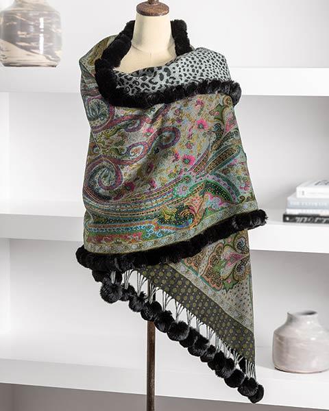 Geneva Reversible Wool Wrap