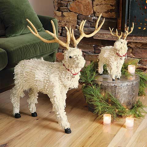 Bixby Crocheted Reindeer Set