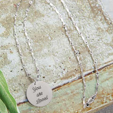 You Are Loved Sterling Silver Necklace