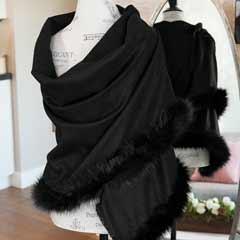 Aspenview Faux Fur Trim Wrap
