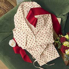 Red Polka Dot Ruffle Pajamas