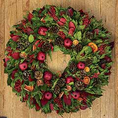 Evergreen Pomegranate Estate Wreath