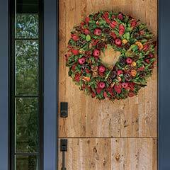 Evergreen Pomegranate Estate Wreath