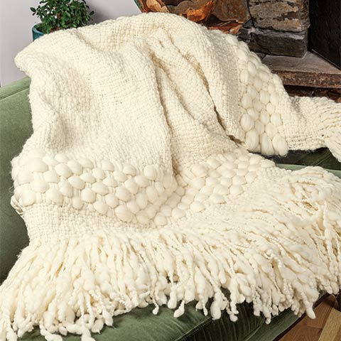 Gwenneth Oversized Hand Loomed Throw