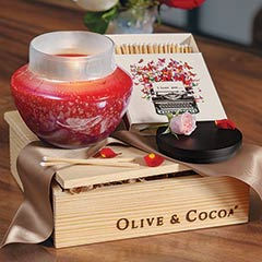 Perfect Match Crimson Candle Set