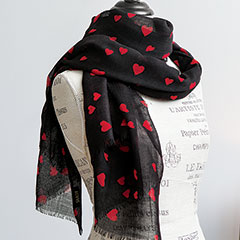 Dottie Hearts Scarf