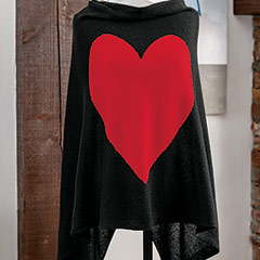 Sweetheart Cashmere Poncho