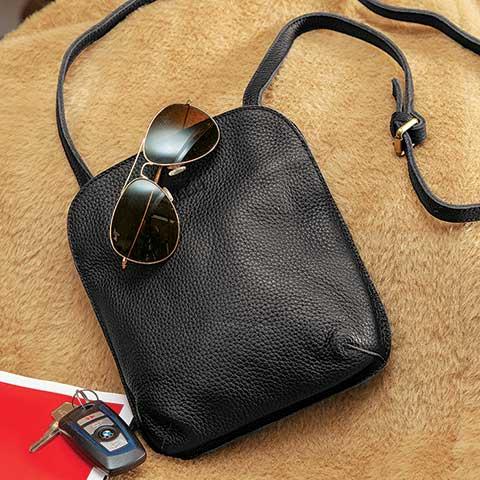 Helena Leather Crossbody Bag