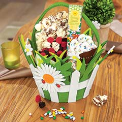 Daisy Felt Basket & Treats