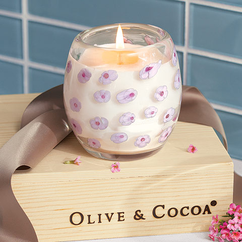 Pink Blossoms Candle