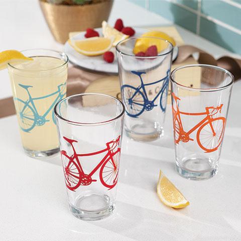 Biketacular Drinking Glasses
