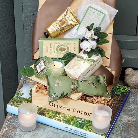 Lavender Dragonfly Spa Crate