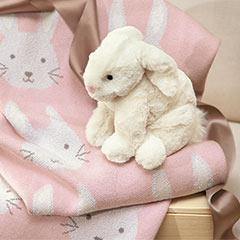 Snuggles The Bunny & Blanket