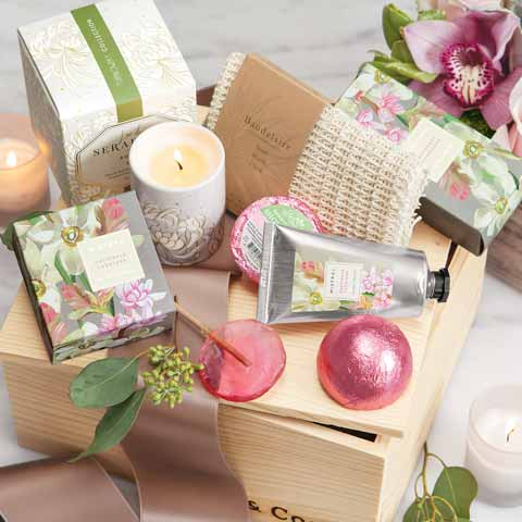 Rouge Blossoms Spa Crate