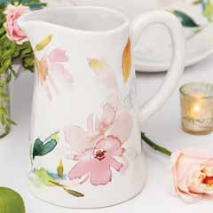 Marchand Floral Pitcher
