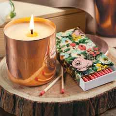Amber Copper Candle Set