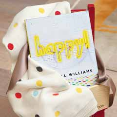 """Happy!"" Book & Dotted Blankie"