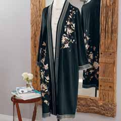 Blossom Embroidered Kimono