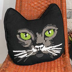 Mr. Green Eyes Cat Pillow