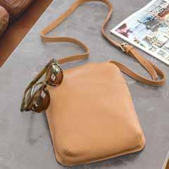 Helena Nude Leather Crossbody Bag