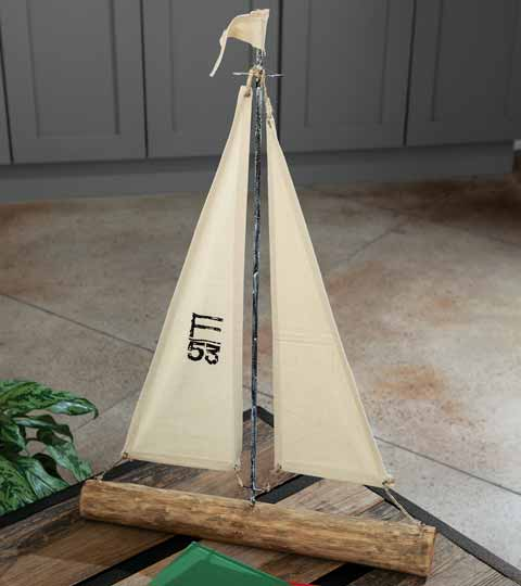 Sail Away Decorative Boat