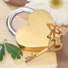 Gilded Parisian Love Lock & Keys