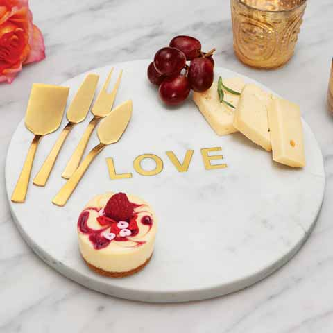 Love Marble Platter & Serving Set