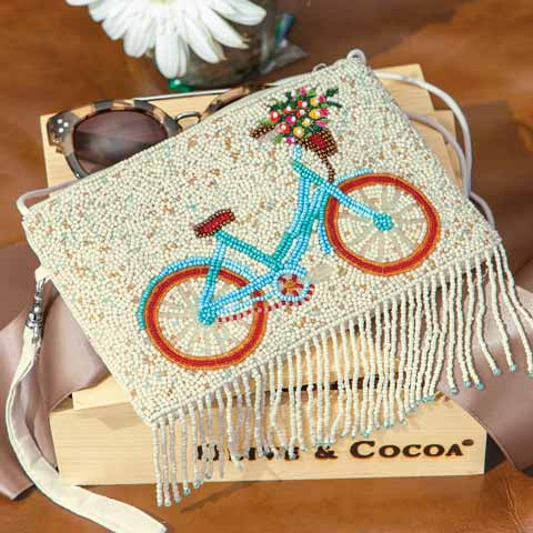 Beaded Bicycle Wristlet